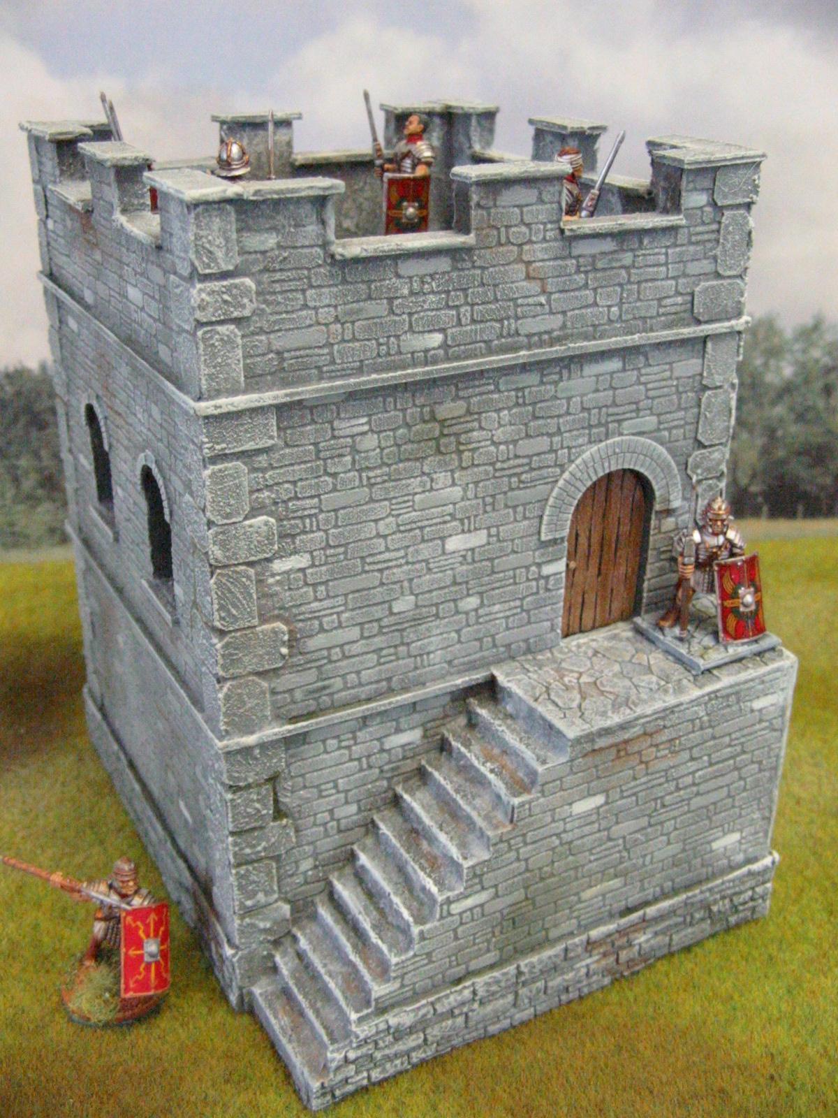 Roman Stone Watchtower (28mm) - Paul's Modelling Workshop