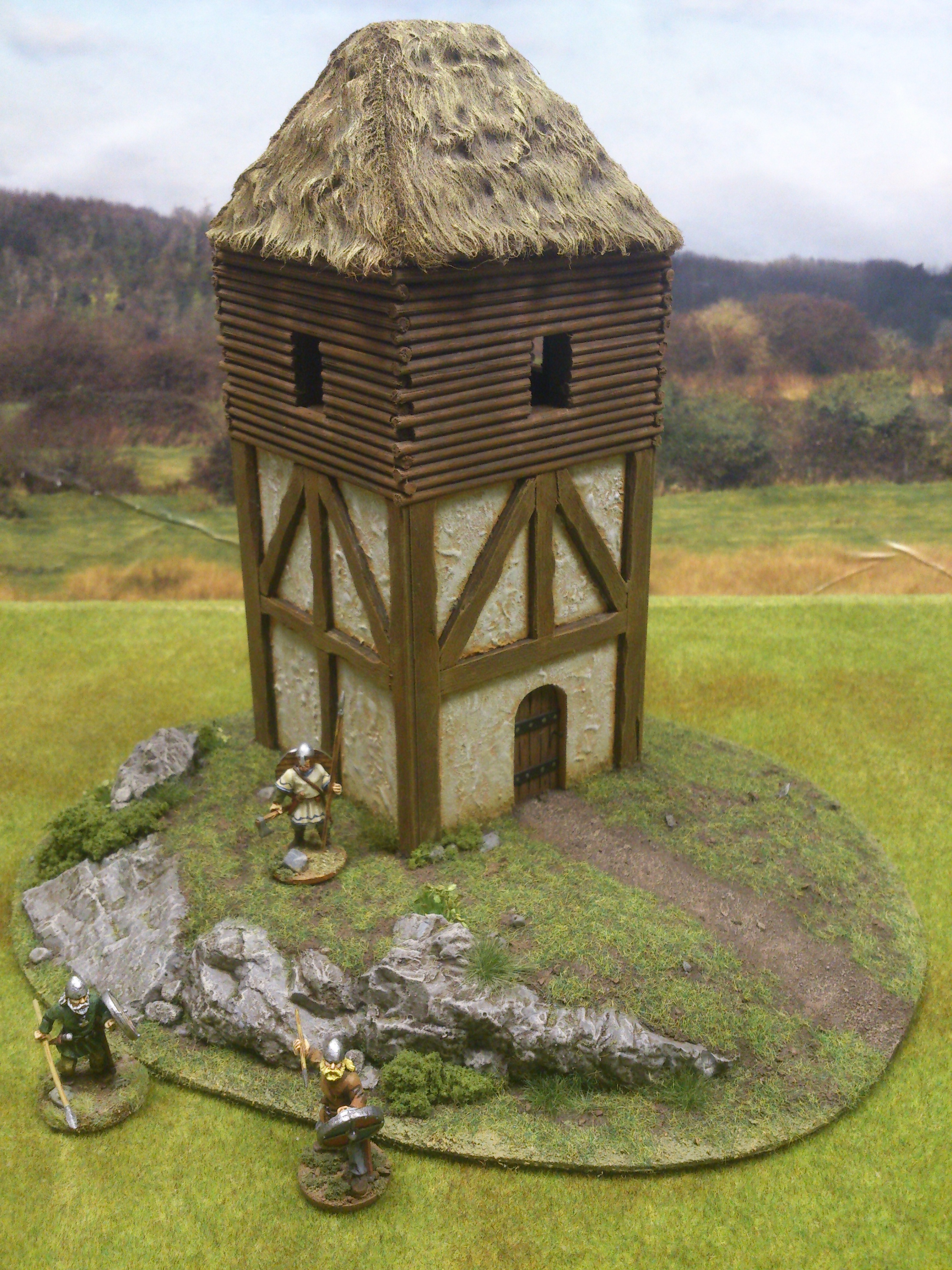 Wooden Watchtower On Rocky Spur Paul S Modelling Workshop